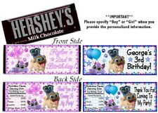 12 Puppy Dog Pals Birthday Party Hershey Candy Bar Wrappers Boy OR Girl Favors