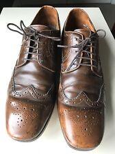 Paul Smith Men Man Gent Brown Leather Designer Brogue Shoe Lace Up Size 8 42