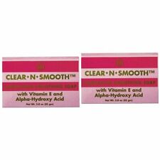 Clear-N-Smooth Complexion Smoothing Soap w/ Alpha Hydroxy Acid (Pack of 2)