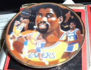 Magic Johnson Los Angeles Lakers Gartlan usa Miniature 3 Inch Collector Plate
