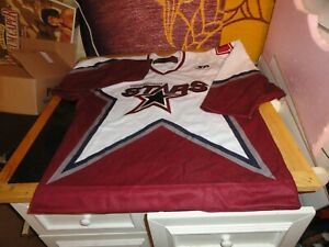 new Connecticut CT Stars authentic hockey jersey 46 med pro cut fight strap xl