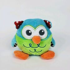 Spark Imagine Create Stuffed Plush Blue Green Owl Bird Baby Chime Toy Rattle t13