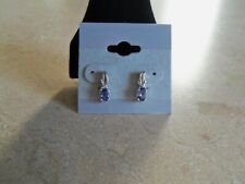 Earrings .46 Carats, Price Reduced New Premium Aaa Tanzanite Stud