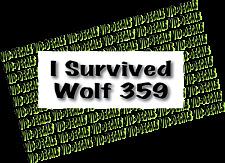 Star Trek I survived Wolf 359 bumper sticker decal free shipping