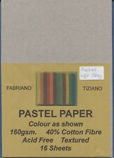 "A Pack of 16 sheets of "" FABRIANO TIZIANO PASTEL PAPER ""  Flecked Light Grey "" ."