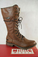 Mustang Ankle Boots Lace up Boots Braun 1295 New