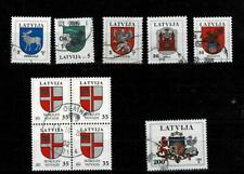 Latvia, lot#1, National, town and area arms, incl. Mi #392
