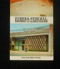 1950s Eureka-Federal Savings and Loan 3455 Forbes Ave. Oakland PA Matchbook
