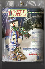 "Dimensions Bottle Buddies Christmas Craft Project Kit 62156 ""Joe Flake"" 13""Tall"
