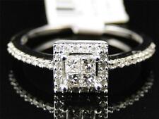 Ladies 14K White Gold Princess Cut Diamond Engagement Fashion Designer Ring