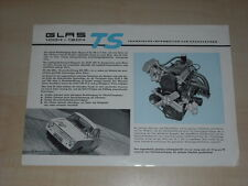 42216) Glas 1004 1204 TS - Infos für Sportfahrer - Prospekt 1964