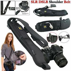 New High Quality Camera Single Shoulder Black Belt Strap Sling SLR DSLR Cameras
