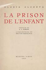 G. Alcorta La prison de l'enfant Borges 8 litografie Basaldua Buenos Aires 1935