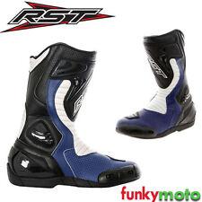 Botas de color principal azul para motoristas