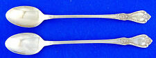 2 TWO Oneida Kennett Square Iced Tea Spoons 7 5/8  Deluxe Stainless Flatware