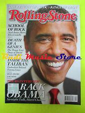 ROLLING STONE USA MAGAZINE 1064/2008 Barak Obama Lou Reed Tina Turner  No cd