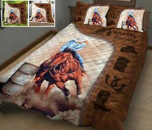 Barrel Racing Quilt Bed Set C