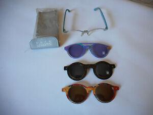 Swatch Eyes Sonnenbrille, 1 Gestell, 1 gebrauchter Wechselclips,+2Neue -- Retro