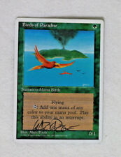 Birds of Paradise - 4th Edition - NM - **SIGNED** MTG Magic the Gathering