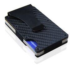 Slim Credit Card Holder   Minimalist Metal Wallet Money Clip Case RFID Blocking