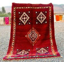 Moroccan 100%Wool Handmade Gorgeous  Boujaad Rug Large Berber  (6.4Ft x 9,6 FT)