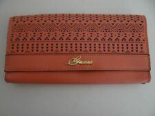 GUESS Womens Coral Laser Cut Travel Clutch Free Shipping SALE