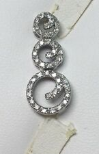 1/2 ct natural (REAL) 43 - DIAMOND circles of love pendant SOLID 14k white GOLD