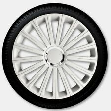 "15"" Radical Pro Wheel Trims White Set of 4 hub caps 15 inch"