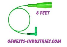 TEST LEADS FOR JDSU ACTERNA HST3000 GREEN HST-3005-GN-6 CLAMP NEW HST03000c