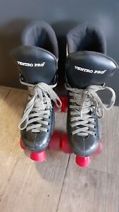 Ventro Pro Turbo Quad Roller Skates Red Ventro Wheels size 5/6 Used.