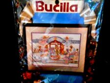Bucilla NATIVITY Christmas Manger Counted Cross Stitch Picture Kit #83043 New