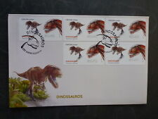 PORTUGAL 2015 DINOSAURS TORVOSAURUS SET 5 FRAMAS FDC FIRST DAY COVER