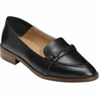 Aerosoles Women's South East Shoe Black Leather slip On Loafer