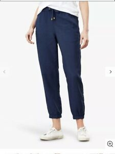 NWT Joules 'Cecelia' Navy Trousers/ Joggers Size 14 RRP £49.95