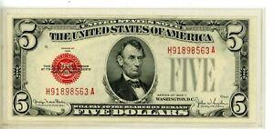FR. 1531 $5 1928-F Legal Tender  # 8563