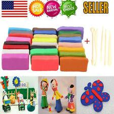 32 Blocks Polymer Clay Set Colorful DIY Soft Craft Oven Bake Modelling Tools Kit
