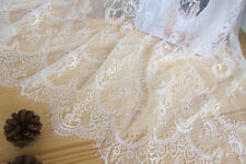 """59"""" Chantilly Bridal Lace Fabric Eyelash Floral Veiling Lace Fabric 3m/piece"""