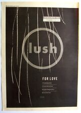 LUSH 1991 original POSTER ADVERT FOR LOVE spooky 4AD