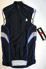 Tyr Ironman Mens Xs Black White Blue Cycling Zip Front Tank Singlet Usa Made New
