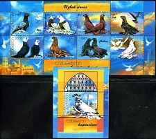 2005. Uzbekistan. Birds. Doves. M/sheet+s/sheet. Mnh. Sc.420-421