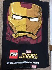 Lego Club Marvel Super Heroes Iron Man L Youth Rare  2013 T-Shirt  New