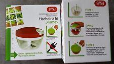 Hachoir a fil 3 Lames oignons Ail legume 520 ml