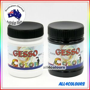 250ml GESSO Non-Toxic Water Based WHITE BLACK