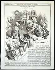 ESSENCE OF PARLIAMENT 1881 Edward Linley Sambourne PUNCH CARTOON PRINT
