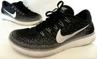 Nike Free RN Distance Men Black Athletic Running jogging Shoes Sz 8.5 ships free