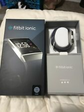 NEW FITBIT IONIC Blue Bray/Silver Gray FB503WTGY S&L FITNESS WATCH
