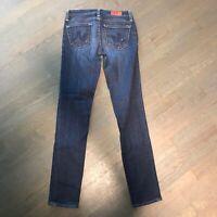 AG Adriano Goldschmied Stilt Cigarette Distressed Stretch Denim Jeans Women's 25