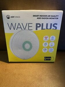 NEW open box, Airthings Wave Plus-Smart Indoor Air Quality with Radon Monitor