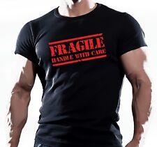 Camiseta para hombre frágil MMA Gimnasio Culturismo Entrenamiento Lucha Entrenamiento motivación