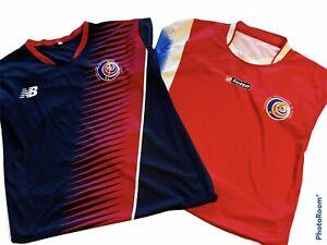 2 Costa Rica National Team Football Soccer Jerseys Lotto & New Balance Sz L